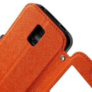 Pěněženkové pouzdro s okýnkem pro Samsung Galaxy S5 mini -  oranžové - 7