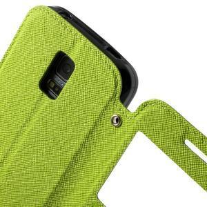 Pěněženkové pouzdro s okýnkem pro Samsung Galaxy S5 mini -  zelené - 7