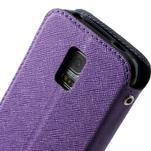 Pěněženkové pouzdro s okýnkem pro Samsung Galaxy S5 mini -  fialové - 7/7