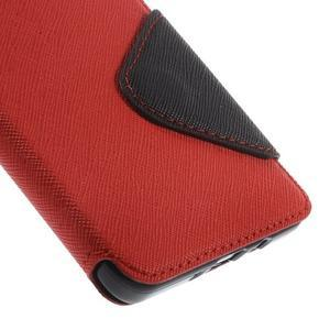 Stylové pouzdro s okýnkem na Samsung Galaxy A5 - červené - 7