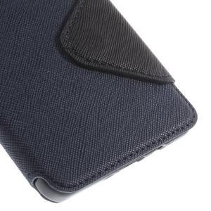Stylové pouzdro s okýnkem na Samsung Galaxy A5 - tmavěmodré - 7