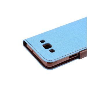 Jeans peněženkové pouzdro na Samsung Galaxy A5 - světlemodré - 7