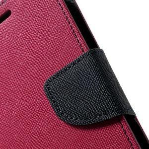 Diary PU kožené pouzdro na Samsung Galaxy S5 mini - rose - 7