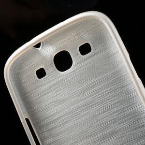 Brush gelový kryt na Samsung Galaxy S III / Galaxy S3 - bílý - 7