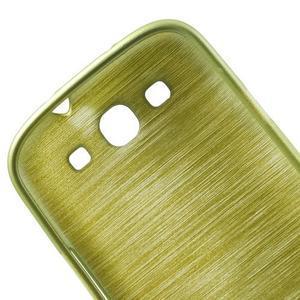 Brush gelový kryt na Samsung Galaxy S III / Galaxy S3 - zelený - 7