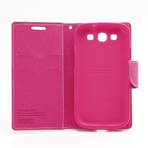 Mr. Fancy koženkové pouzdro na Samsung Galaxy S3 - růžové - 7