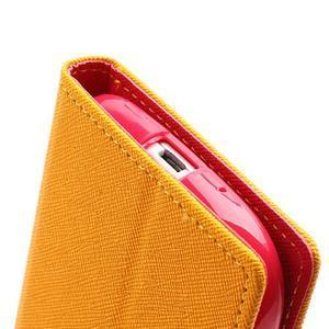 Mr. Fancy koženkové pouzdro na Samsung Galaxy S3 - žluté - 7