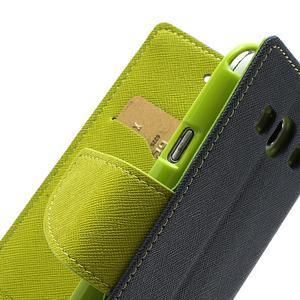 Mr. Fancy koženkové pouzdro na Samsung Galaxy S3 - tmavěmodré - 7