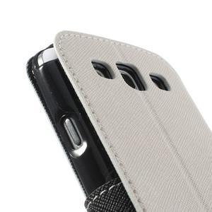 Peněženkové pouzdro s okýnkem pro Samsung Galaxy S3 / S III - bílé - 7