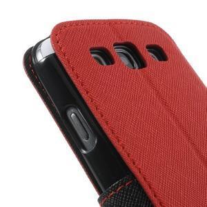 Peněženkové pouzdro s okýnkem pro Samsung Galaxy S3 / S III - červené - 7