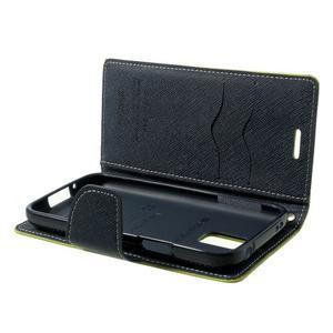 Diary PU kožené pouzdro na Samsung Galaxy S5 mini - zelené - 7