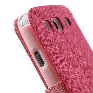 Peněženkové pouzdro s okýnkem pro Samsung Galaxy S3 / S III - rose - 7