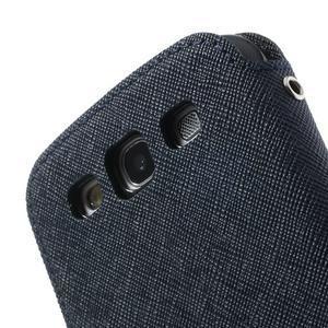 Peněženkové pouzdro s okýnkem pro Samsung Galaxy S3 / S III - tmavěmodré - 7