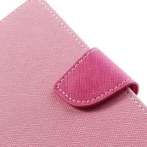Goosp PU kožené pouzdro na Samsung Galaxy Note 3 - růžové - 7