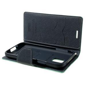 Diary PU kožené pouzdro na Samsung Galaxy S5 mini - azurové - 7