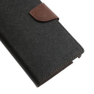 Goosp PU kožené pouzdro na Samsung Galaxy Note 3 - černé/hnědé - 7