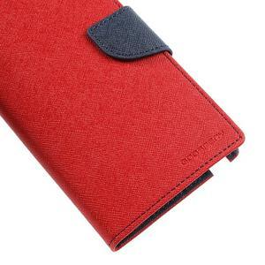 Goosp PU kožené pouzdro na Samsung Galaxy Note 3 - červené - 7