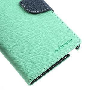 Goosp PU kožené pouzdro na Samsung Galaxy Note 3 - azurové - 7