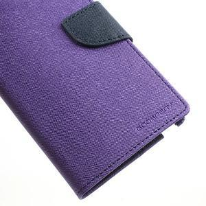 Goosp PU kožené pouzdro na Samsung Galaxy Note 3 - fialové - 7