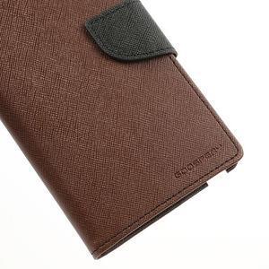 Goosp PU kožené pouzdro na Samsung Galaxy Note 3 - hnědé - 7