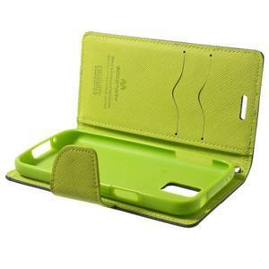 Diary PU kožené pouzdro na Samsung Galaxy S5 mini - tmavěmodré - 7