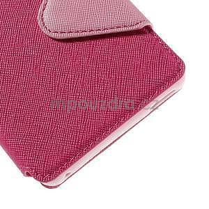 Peněženkové pouzdro s okýnkem pro Sony Xperia M4 Aqua - růžové - 7