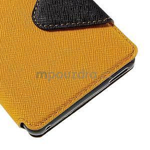 Peněženkové pouzdro s okýnkem pro Sony Xperia M4 Aqua - žluté - 7