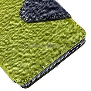 Peněženkové pouzdro s okýnkem pro Sony Xperia M4 Aqua - zelené - 7