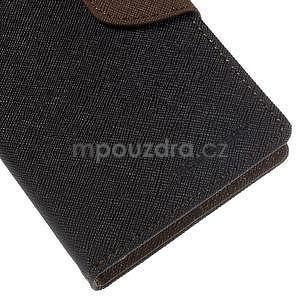 Ochranné pouzdro na Sony Xperia M4 Aqua - černé/hnědé - 7