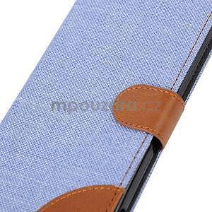 Jeans peněženkové pouzdro na mobil Sony Xperia M4 Aqua - světle modré - 7