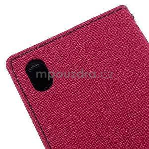 Ochranné pouzdro na Sony Xperia M4 Aqua - rose/tmavěmodré - 7