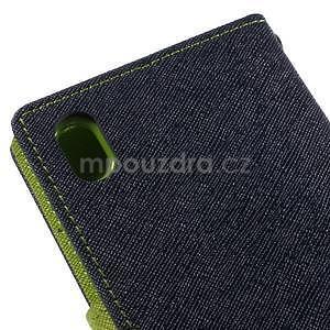 Ochranné pouzdro na Sony Xperia M4 Aqua - tmavěmodré/zelené - 7