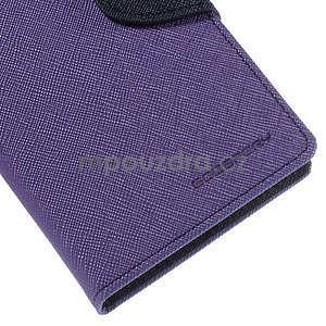 Ochranné pouzdro na Sony Xperia M4 Aqua - fialové/tmavěmodré - 7