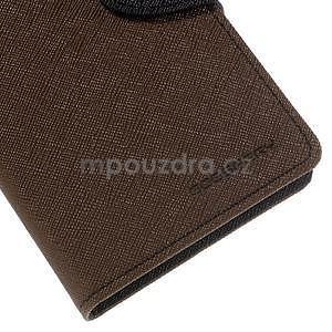 Ochranné pouzdro na Sony Xperia M4 Aqua - hnědé/černé - 7