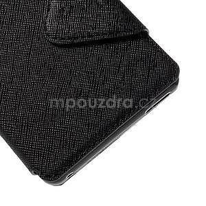 Peněženkové pouzdro s okýnkem pro Sony Xperia M4 Aqua - černé - 7