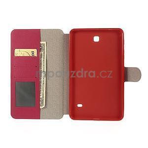 PU kožené peněženkové pouzdro pro tablet Samsung Galaxy Tab 4 8.0 - magenta - 7