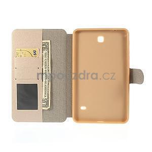 PU kožené peněženkové pouzdro pro tablet Samsung Galaxy Tab 4 8.0 - champagne - 7
