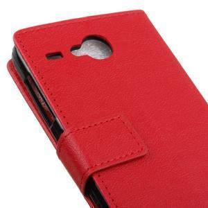 Gregory peněženkové pouzdro na Acer Liquid Z520 - červené - 7