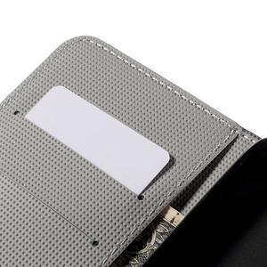Nice koženkové pouzdro na mobil Acer Liquid Z520 - bílé květy - 7
