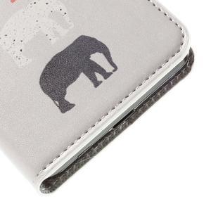 Nice koženkové pouzdro na mobil Acer Liquid Z520 - sloni - 7