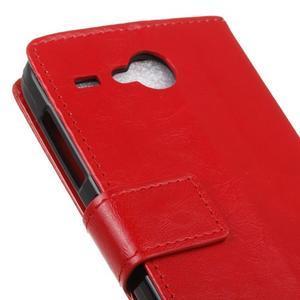 Stanley PU kožené pouzdro na Acer Liquid Z520 - červené - 7