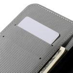 Valet peněženkové pouzdro na Acer Liquid Z530 - bílý květ - 7/7