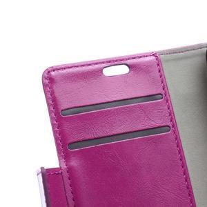 Leat PU kožené pouzdro na mobil Acer Liquid Z630 - fialové - 7