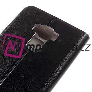 Horse PU kožené pouzdro na Asus Zenfone 3 Max ZC553KL - černé - 7