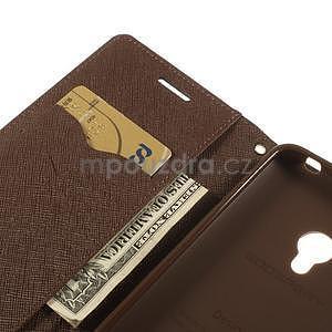 Černé/hnědé peněženkové pouzdro na Asus Zenfone 5 - 7