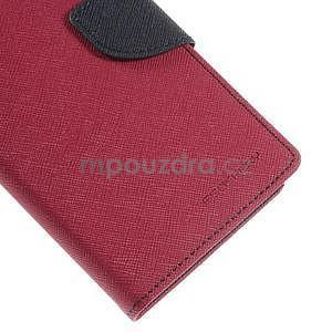 Rose/tmavě modré peněženkové pouzdro na Asus Zenfone 5 - 7