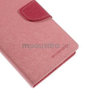 Růžové/rose peněženkové pouzdro na Asus Zenfone 5 - 7