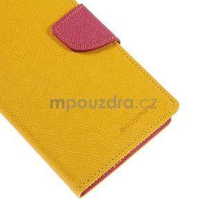 Žluté/rose peněženkové pouzdro na Asus Zenfone 5 - 7