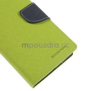 Zelené/tmavě modré peněženkové pouzdro na Asus Zenfone 5 - 7