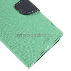 Azurové/tmavě modré peněženkové pouzdro na Asus Zenfone 5 - 7